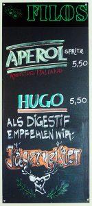 Filos Restaurant Köln - Getränketafel